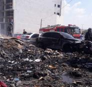 حريق سيارات في جنين