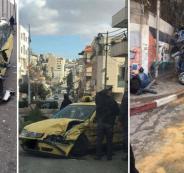 اصطدام شاحنة بمركبات في بيت جالا