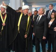 بوتين واردوغان وافتتاح مسجد في القرم