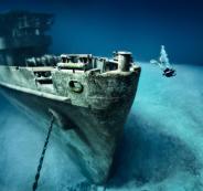 العثور على سفن غارقة