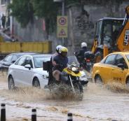 امطار في اسطنبول