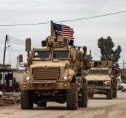 مواجهة بين مدرعة امريكية وروسية في سوريا
