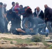 إصابات  خلال قمع مسيرة ضد الاستيطان برام الله