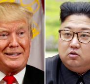 ترامب والزعيم الكوري الشمالي