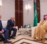 جانب من لقاء محمد بن سلمان مع مبعوث الرئيس الأمريكي لشأن سوريا