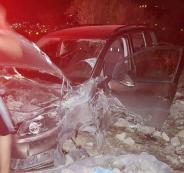 حادث سير شرق نابلس
