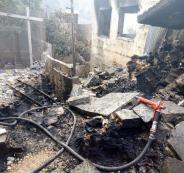 تفجير منزل عائلة الشهيد عادل عنكوش في دير أبو مشعل
