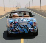 رسوم الغرافيتي على سيارات فارهة بدبي