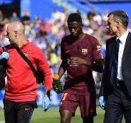 ديمبلي يغيب مدة طويلة عن برشلونة بسبب الإصابة