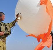 اطلاق منطاد اسرائيلي فوق الخضر