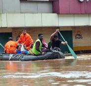 الفيضانات في كيرلا بالهند