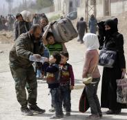 نزوح مدنيين من الغوطة الشرقية