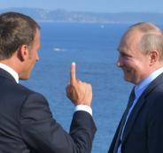 مشادة كلامية بين بوتين وماكرون