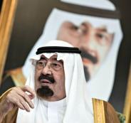 الملك عبد الله بن عبد العزيز وجورج بوش