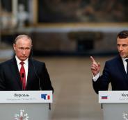 بوتين وماكرون في فلسطين