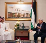 عباس ووزير الخارجية القطري