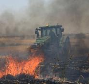 حرائق في محيط غلاف قطاع غزة