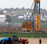 جدار عازل بين اسرائيل وقطاع غزة