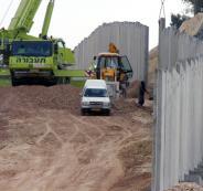 استئناف بناء جدار الفصل شمال غرب بيت لحم