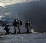 إصابة 4 شبان بالرصاص الحي بمواجهات في المزرعة الغربية قرب رام الله