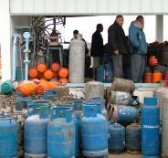 تركيب خط غاز لغزة