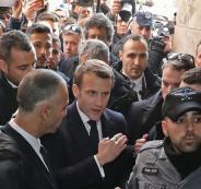 فرنسا وماكرون وطر عناصر الشرطة الاسرائيلية من داخل كنيسة