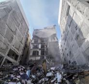 تدمير مباني في غزة