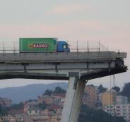 انهيار جسر جنوى