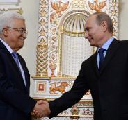الرئيسان الروسي والفلسطيني