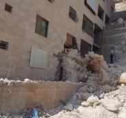 إصابة 3 مواطنين بانهيار صخري في نابلس