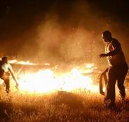 حريق في الاغوارر