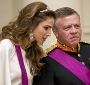 الملكة رانيا والسفارة الامريكية في القدس