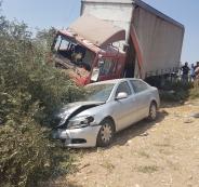اصابات في حادث سير بجنين