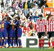 برشلونة يواصل الزحف نحو تحقيق اللقب بإسقاط أتلتيك بلباو بهدفين نظيفين