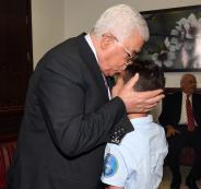 الرئيس يوعز بعلاج الطفل الذي هاجمه دب في قلقيلية