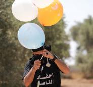 اطلاق بالونات حارقة من قطاع غزة