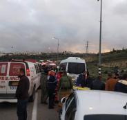حادث سير شمال الخليل