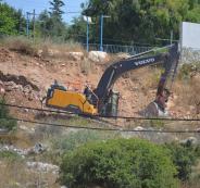 تجريف اراضي المواطنين في نابلس