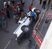 وفاة شرطي مرور في غزة إثر حادث انقلاب مركبة للشرطة