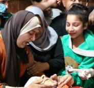 تشييع جثمان الشهيد في مخيم الفوار