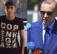 اردوغان وشاب فلسطيني