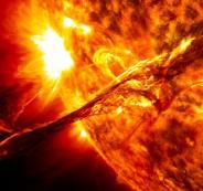انفجارات في الشمس