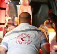 اضراب الهلال الاحمر في رام الله