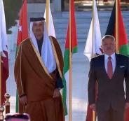 زيارة امير قطر الى الاردن