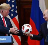 الكرة التي اهداها بوتين لترامب