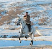 خيول الزعيم الكوري الشمالي