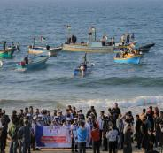 مسير بحري في غزة