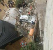 اضرار بغزة نتيجة المنخفض الجوي