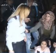 فلسطينية تضرب مجندة اسرائيلية في باب العامود