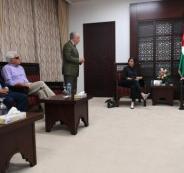 عباس يلتقي حزب ميرتس الاسرائيلي